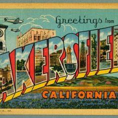 Vintage Poster Kern County 1940/'s