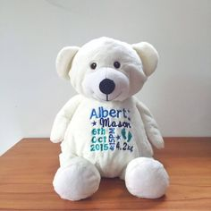 Personalised baby gift rainbow bears embroidered teddy bear personalised baby gift rainbow bears embroidered teddy bear personalised teddy bear bridal bling australia by bridalbling pinterest negle Gallery