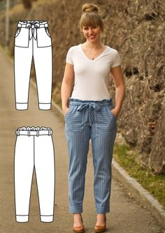 New:: Penelope Pants Sewing Pattern Sewing Pants Pattern Penelope Sewing Projects For Beginners, Sewing Tutorials, Sewing Tips, Sewing Pants, Skirt Sewing, Leftover Fabric, Love Sewing, Pants Pattern, Bib Pattern
