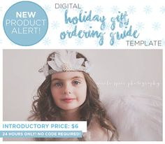 NEW! ★ Holiday Gift Guide for Photographers ★  TODAY ONLY! Purchase our NEW Holiday Gift Ordering Guide for just $6! NO CODE REQUIRED at checkout! This sale will end tomorrow at 2pmEST.