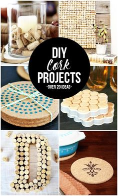 Got cork? Whether it's corks from wine a bottle or a cork roll, these DIY Cork Projects are sure to inspire you. Fun Crafts To Do, Crafts For Teens To Make, Diy Crafts To Sell, Easy Crafts, Sell Diy, Kids Diy, Wine Cork Crafts, Wine Bottle Crafts, Diy Cork