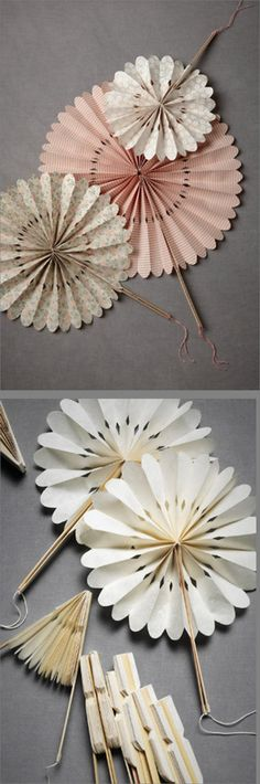 Fun Crafts, Diy And Crafts, Crafts For Kids, Arts And Crafts, Giant Paper Flowers, Diy Flowers, Diy Paper, Paper Crafts, Paper Fans