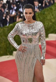Kim Kardashian arrives for the Costume Institute Benefit at the Metropolitan Museum of Art on May 2, 2016 in New York.