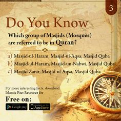 Which group of Masjids (Mosques) are referred to be in Quran ? #DarussalamPublishers #IslamiciOSApps #islamicAndroidApps #IslamicApps #IslamicFactResource