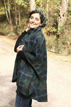 tartan cape vintage