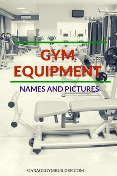 Starting an exercise routine is intimidating when you first begin. Walking into the gym and seeing fifty plus different machines with no idea which one does what can be quite daunting. You may be scared that you might use a machine wrong or may fail becau Gym Equipment Names, Best Gym Equipment, Gym Exercise Equipment, Fitness Equipment, Fitness Studio Training, Cardio Training, Weight Training, Fitness Gear, Fitness Shirts