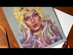 Trying PanPastels, mixed media time-lapse drawing - YouTube