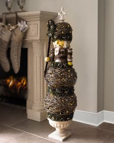 Nutcracker Topiary - there is something about this I just like.