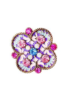 This gorgeous colorful antique ring features unique designs and pastel colors. Embellished with rhinestone detailing along the face of the ring. Antique gold hardware and an adjustable band.    Colorful Antique Ring Accessories - Jewelry - Rings Las Vegas
