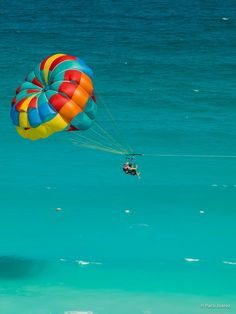 Went parasailing once over a lake and once at Catalina Island.. need to do it again..