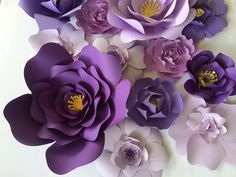 Paper Flower Wall Decor Ready To Ship large paper by PaperFlora