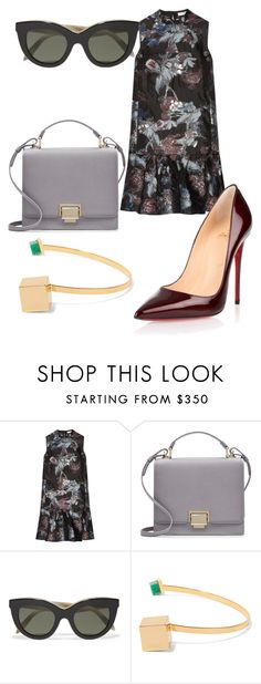 """Mali je gej"" by anjasv ❤ liked on Polyvore featuring Erdem, Smythson, Victoria Beckham, Paula Mendoza and Christian Louboutin"