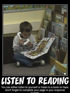 Listen to reading poster, I love the idea to listen to yourself read.