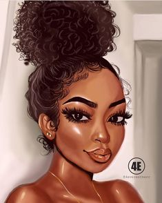 American art, black love art, black girl art, drawings of black Black Love Art, Black Girl Art, Art Girl, African American Art, African Art, Natural Hair Art, Natural Hair Styles, Drawings Of Black Girls, Black Girl Cartoon