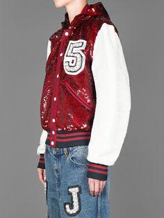 Ashish sequin varsity hood jacket #ashish