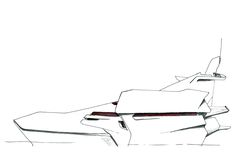 50m Trimaran yacht, concept drawing