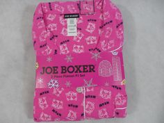 Womens Joe Boxer Pajamas Flannel 2 Pc. Cats Meow Pink New #JoeBoxer #PajamaSets
