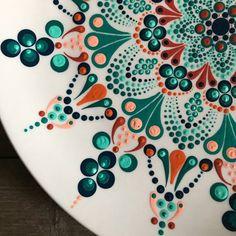 Decorative Mandala Plate Hand Painted Plate Dot Mandala | Etsy