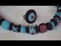 "Collana ""porosa"" Volcanic Beads (polymer clay beads / perle in fimo)"