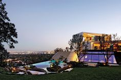 Tour Director Michael Bay's Modern Three-Story Home in California