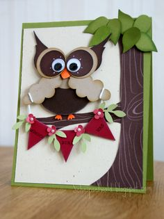 Stampin' Up! Punch art owl!