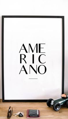 Americano Instant download printable poster, black & white typography wall art posters, Coffee posters, Wall decor, Digital art, kitchen art http://etsy.me/2hTLYmK #art #print #digital #americano #instantdownload #printableposter #quoteart #printableart #graphicdesigns #etsy