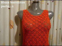 blusa o vestido barrilitos    ( todas las tallas) parte 1 - YouTube