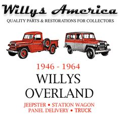 My Hubby has a 1960 Jeep Willys truck like the red one!