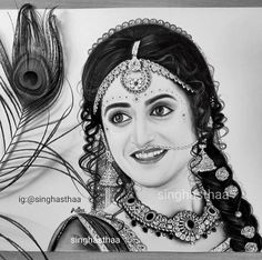 Hard Drawings, Cute Couple Drawings, Girl Drawing Sketches, Dark Art Drawings, Radha Krishna Sketch, Krishna Drawing, Krishna Art, Krishna Flute, Blond