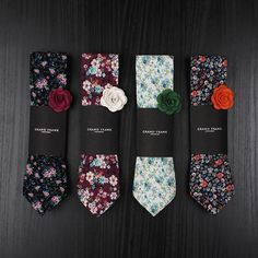Just in - A bunch of new great floral ties  Find your favourites in the online store!  www.Grandfrank.com #floralties Formal Tie, Shoe Sites, Mein Style, Sharp Dressed Man, Suit And Tie, Wedding Suits, Swagg, Groomsmen, Men Dress