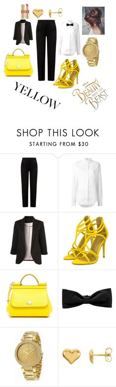 """""""xxxx"""" by ananurkovic ❤ liked on Polyvore featuring Alberta Ferretti, Anthony Vaccarello, Dolce&Gabbana, Hermès, Michael Kors, Yves Saint Laurent and Disney"""