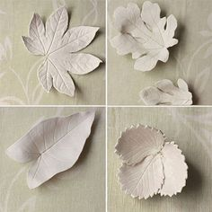 DIY leaf bowls made with real leaves and air dry clay Leaf Crafts, Flower Crafts, Clay Wall Art, Leaf Bowls, Clay Bowl, Diy Wallpaper, Clay Flowers, Leaf Art, Air Dry Clay