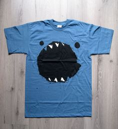 """Limited  tshirt edition of my original drawing """"hungry monster"""", boy version, printed in silkscreen technique"""