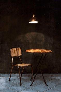 Image of Mesa y sillas vintage hierro/madera