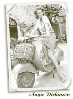 Vespa Ape, Vespa Lambretta, Vespa Girl, Scooter Girl, Scooters, Italian Scooter, Vintage Street Fashion, Angie Dickinson, Transporter