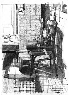 Architectural Drawings by Andrei ( Zoster ) Răducanu, via Behance