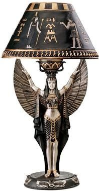 Isis Goddess of Power & Beauty Sculptured Table Lamp. In-Home Egyptian Products