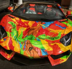 That's one hot rod #Aventador !!