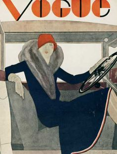 Vogue (1929) - changes in womanhood. She's revealing her legs and not only that she is driving a car!