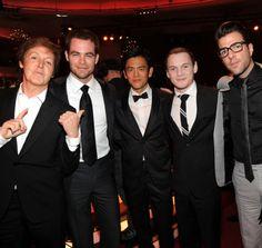 Paul McCartney, Chris Pine, John Cho, Anton Yelchin, y Zachary Quinto. (em)