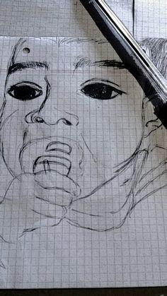 Retrato con lapicera