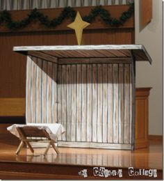 misc 015 cardboard stable for christmas program.