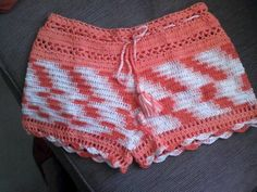multicolored, laced short shorts