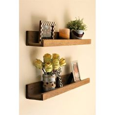 Heighten your home organization in contemporary fashion with these floating ledge shelves boasting solid wood. Includes two shelvesWeight capacity: 20 lbs. Decor, Floating Shelves, Floating, Shelves, Diy Furniture, Ledge Shelf, Home Decor, Contemporary Decor, Contemporary Home Decor