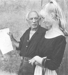 Pablo Picasso - Photos - With Sylvette David, 1954 year