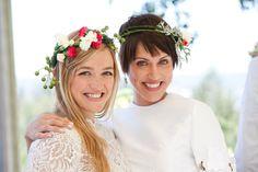 flower crowns - Napa Wedding at Esser Vineyards from Lauren Ross