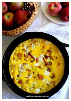 Winter Squash Frittata with Apples and Bacon - paleo, whole30 compliant, gluten free, grain free, dairy free