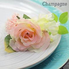 Rose Hydrangea  Silk  Wedding Boutonniere  (More Colors) – USD $ 5.99