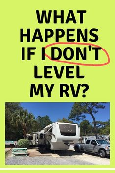 When we first started RVing we had a difficult time Leveling our RV, depending on the RV park. In this explains why it's important and tips for leveling your RV. Rv Campers, Camper Trailers, Travel Trailers, Camper Van, Camper Hacks, Rv Hacks, Vintage Trailers, Vintage Campers, Camping Essentials