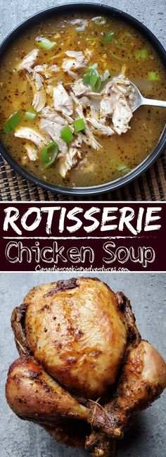 This Rotisserie Chicken Soup is something I like to make after making a whole chicken. #rotisserie #chicken #soup #soups #recipe #recipes #onepot #cold #healthy #greenonion #onion #bonebroth #chickenstock Easy Soup Recipes, Chili Recipes, Chicken Recipes, Dinner Recipes, Healthy Recipes, Budget Recipes, Whole30 Recipes, Holiday Recipes, Rotisserie Chicken Soup